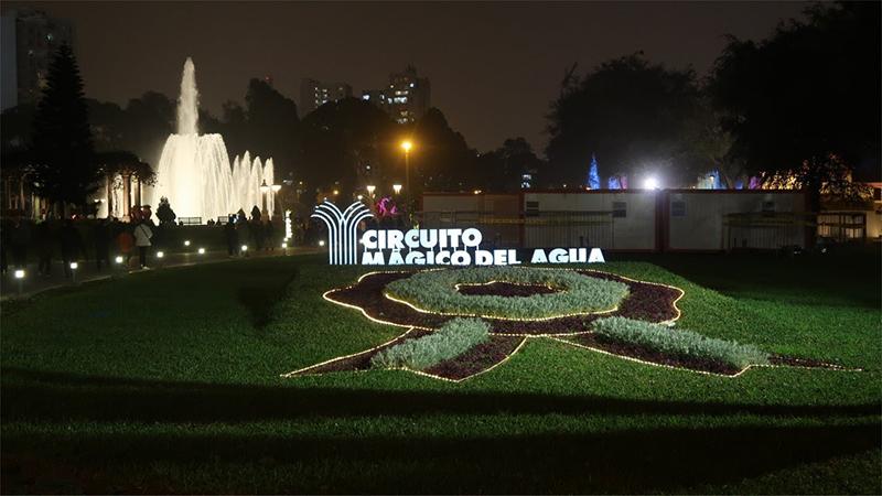 Entrada do Circuito Mágico Del Agua em Lima