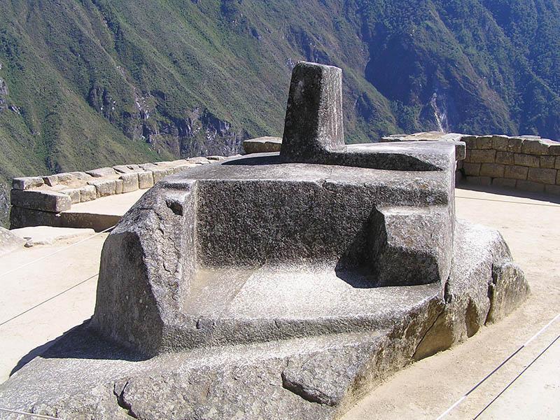 Relógio Intihuatana em Machu Picchu