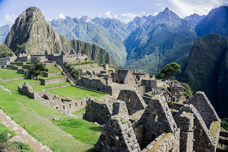 Cenários de Machu Picchu no Peru