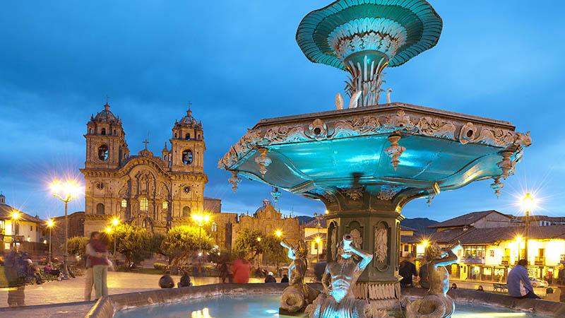 Plaza de Armas em Cusco no Peru
