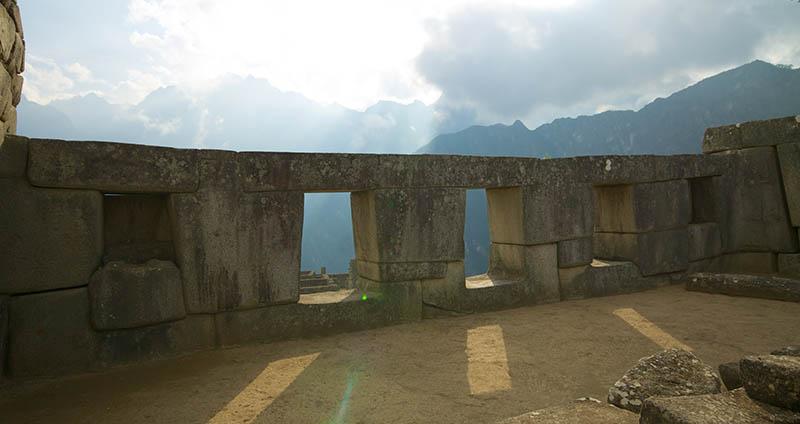 Templo das Três janelas em Machu Picchu