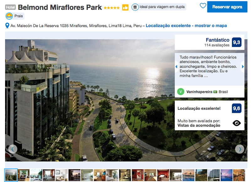 Hotel Belmond Miraflores Park em Lima