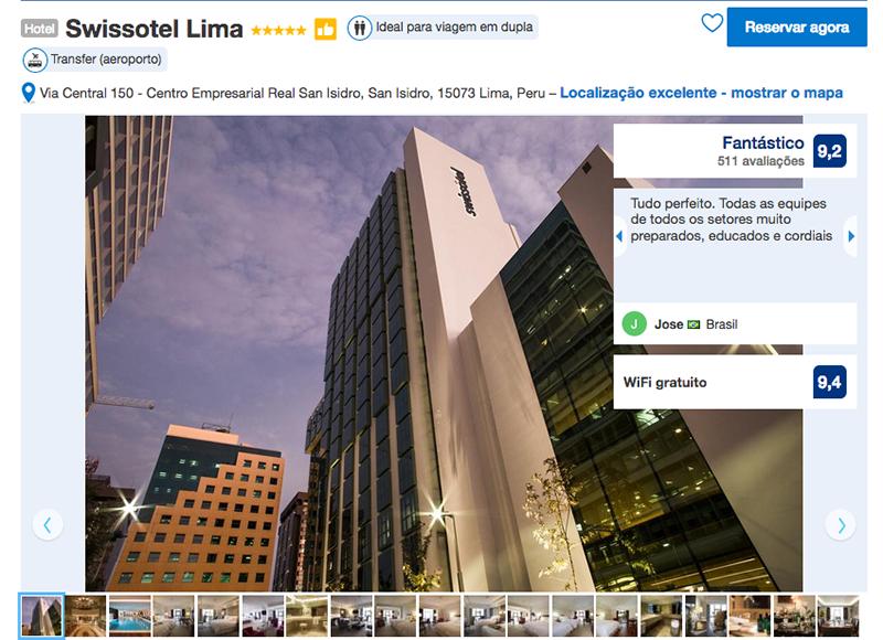 Hotel Swissotel em Lima