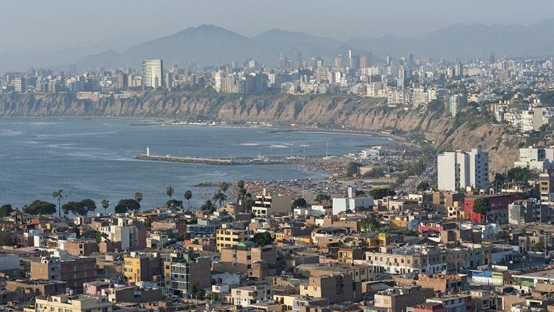 Paisagem de Lima durante o inverno